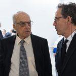 Los artistas Luis Gordillo y Jose María Sicilia